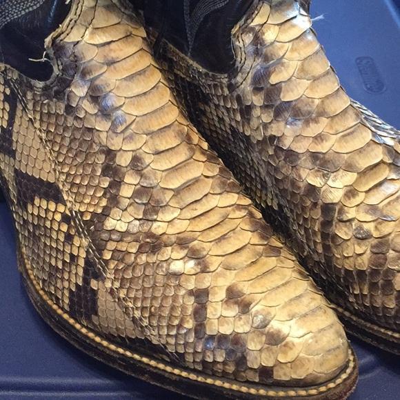 6650c0ab37d Men's 8.5 Abilene snake skin boots